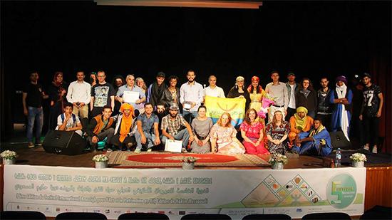 إسدال الستار حول فعاليات الدورة الخامسة للمهرجان الأمازيغي الدولي حول الفن والتراث بالريف، دورة حكيم المسعودي-طنجة-الأدبية