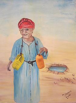 لوحة للفنانة التشكيلية خديجة الرمة